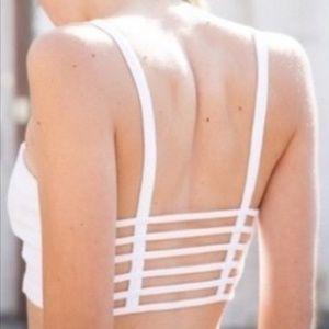 Brandy Melville White Strappy Bralette Top